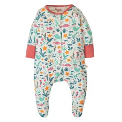 Prima tutina in cotone biologico Frugi - Mermaid