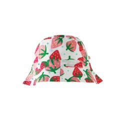 Cappello pescatora reversibile Scilly Strawberry Frugi in cotone biologico