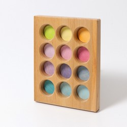 Tavola delle corrispondenze arcobaleno pastello Grimm's