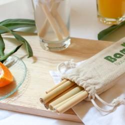 12 cannucce in bambù riutilizzabili - 2 misure