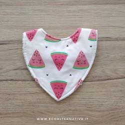 Bavaglino bandana in cotone fatto a mano in diverse fantasie - Umbo handmade with love