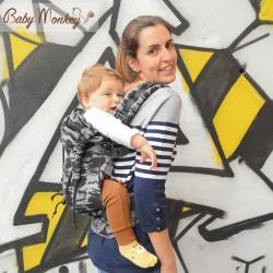 Marsupio ergonomico Regolo Babymonkey Graphite - spedizione gratuita