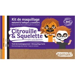 Kit Trucco bio per bambini- 3 colori - Zucca e scheletro