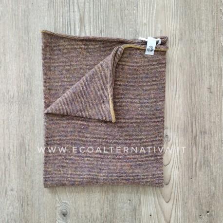 Scaldacollo  Ganzo 3 in 1 in lana rigenerata - colori alternati Grano e Melanzana