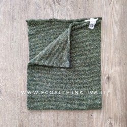 Scaldacollo  Ganzo 3 in 1 in lana rigenerata - colori alternati Militare e Pistacchio