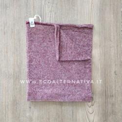 Scaldacollo  Ganzo 3 in 1 in lana rigenerata - colori alternati Ciliegia e Panna