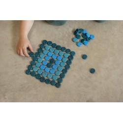 Mandala Grapat - Piccole monete blu