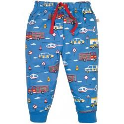 Pantaloni con toppe fantasia bandierine in cotone bio Frugi