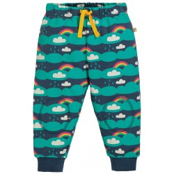 Pantaloni felpati con toppe fantasia Save the Day in cotone bio Frugi
