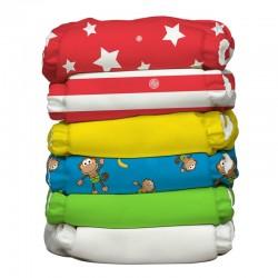 Kit da 6 pannolini lavabili pocket ibrido Charlie Banana - Circus