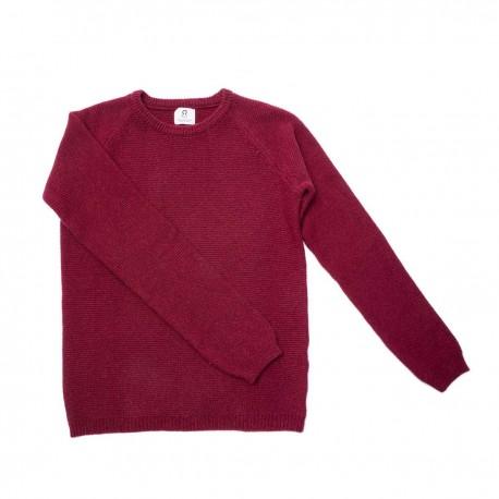 Maglione in cashmere rigenerato - Rosso Montalcino