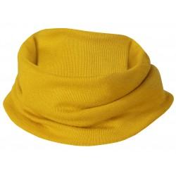 Scaldacollo per bambini in lana e seta - zafferano