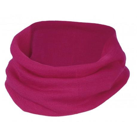Scaldacollo per bambini in lana e seta - raspberry