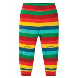 Pantaloni leggings morbidi Multi Stripe in cotone biologico - Frugi