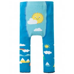 Leggings in maglina di cotone bio - Bright Sky Sun -Frugi