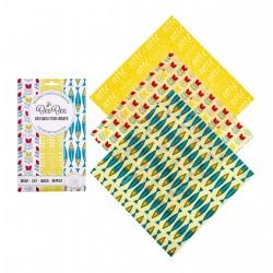 Carta delle api - 3 fogli medi - diverse fantasie